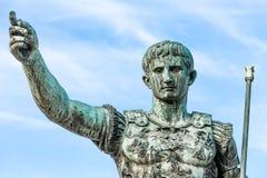 奥古斯都凯撒,罗马,意大利雕象  图库摄影