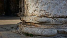 奥古斯都寺庙在镇中心在普拉城市在克罗地亚 免版税图库摄影