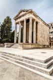 奥古斯都普拉,克罗地亚古庙  库存图片