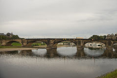 奥古斯都桥梁,德累斯顿,德国 库存图片