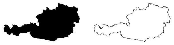 奥地利传染媒介图画仅简单的锋利的角落地图  木鲁旰 皇族释放例证