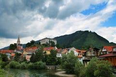奥地利全景季节3 库存照片