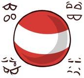 奥地利国家球 向量例证