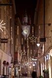 奥地利圣诞夜萨尔茨堡视图 免版税库存图片