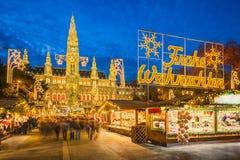 奥地利圣诞节市场维也纳 库存图片