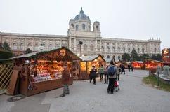 奥地利圣诞节市场维也纳 库存照片
