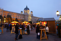 奥地利圣诞节市场维也纳 免版税库存图片