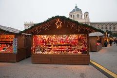 奥地利圣诞节市场维也纳 免版税图库摄影