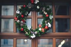 奥地利圣诞节christmass关闭装饰详细资料维也纳的市场结构树 免版税库存图片