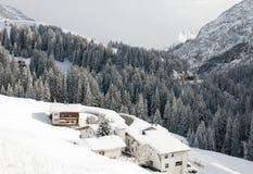 奥地利场面冬天 库存图片