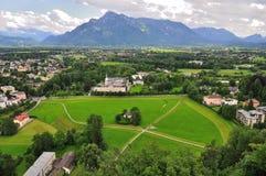 奥地利城堡hohensalzburg萨尔茨堡视图 免版税库存图片
