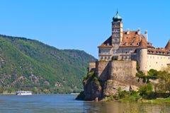 奥地利城堡schonbuhel wachau 图库摄影