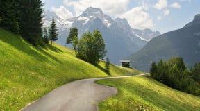 奥地利夏天山风景 免版税库存照片