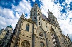 奥地利大教堂st stephan ・维也纳 库存照片