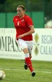 奥地利女性友好意大利符合足球u17 库存图片