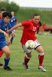奥地利女性友好意大利符合足球u17 库存照片