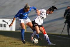 奥地利女性友好意大利符合足球u19 库存照片