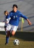 奥地利女性友好意大利符合足球u19 免版税库存图片