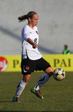 奥地利女性友好意大利符合足球u19 库存图片