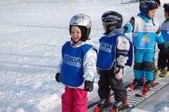 奥地利学校滑雪 库存照片