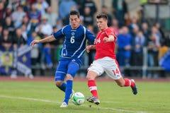 奥地利对波黑(U19) 图库摄影