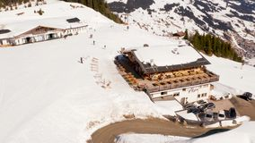 奥地利小冬天镇的鸟瞰图 影视素材