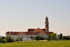 奥地利巴洛克式的修道院全景 库存照片