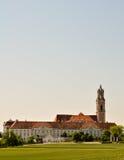 奥地利巴洛克式的修道院全景 免版税库存图片