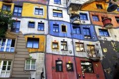 奥地利房子hundertwasser维也纳 图库摄影