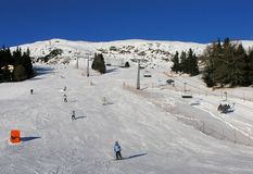 奥地利手段滑雪 库存照片