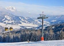奥地利手段schladming滑雪 奥地利 库存图片