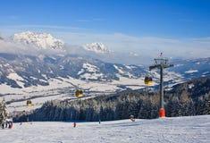 奥地利手段schladming滑雪 奥地利 免版税库存图片