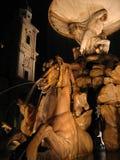 奥地利晚上萨尔茨堡 免版税库存图片
