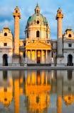 奥地利查尔斯教会维也纳 免版税库存照片