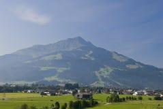 奥地利横向山 免版税库存照片
