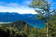 奥地利湖山假期 库存照片