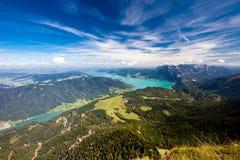 奥地利湖山假期 图库摄影