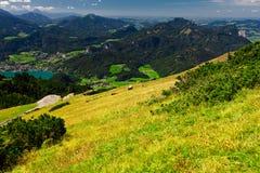 奥地利湖山假期 免版税库存照片