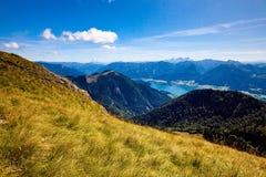奥地利湖山假期 免版税图库摄影