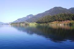 奥地利湖wolfgangsee 免版税库存图片