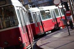 奥地利电车维也纳 免版税图库摄影