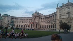 奥地利的国立图书馆在韦恩 免版税库存图片