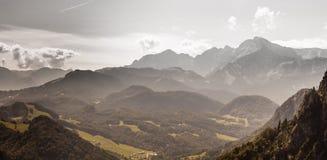 奥地利的山 免版税库存照片