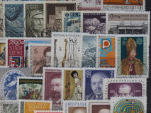 奥地利的邮票 库存图片