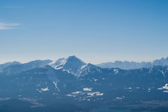奥地利的阿尔卑斯 库存图片