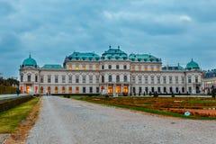 奥地利眺望楼宫殿维也纳 免版税库存照片