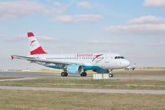 奥地利空中航线空中客车A320 免版税库存图片