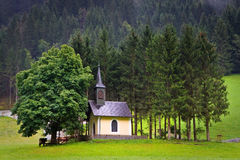 奥地利老教堂huttschlag 库存照片