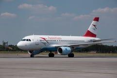 奥地利航空空中客车A-319 免版税库存图片