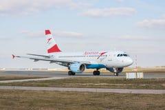 奥地利航空空中客车A319-112 免版税库存图片